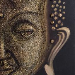 buddha acryl canvas modellingpaste