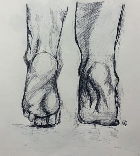 #art,#penart,#ballpointpen,#drawing,#feet