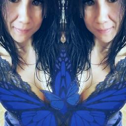 selfie newyear 010117 blue mirrored freetoedit