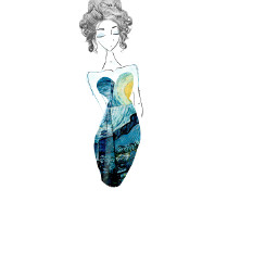 wig cute art blue wdppromdresses freetoedit
