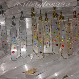 rainbow chakra pendant necklace wirejewelry