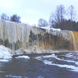 jägala waterfall ice icewaterfall almightynature