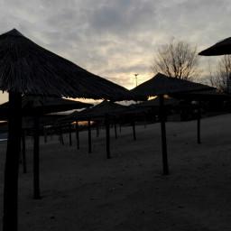 colddays riverside danube danuberiver sunset