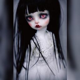 doll girly sadgirl cute blackandwhite