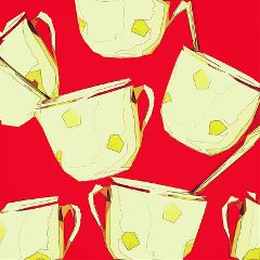 freetoedit popart cups spoons teatime