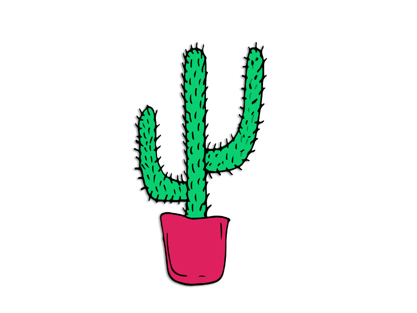 #fte #ftestickers #stickers #plant #painting #illsutration #art #design #painting #cactus
