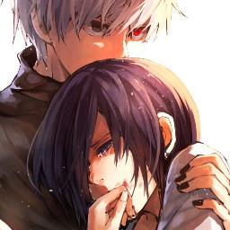 FreeToEdit art anime manga thokyoghoul kanekiken toukakirishima beautiful love lovestory