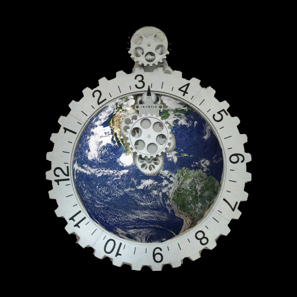 #FreeToEdit #time #earth #tick #ticktick #clock #continent #water #cloud #overview #numbers